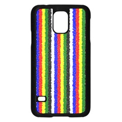 Basic Colors Curly Stripes Samsung Galaxy S5 Case (Black)