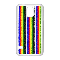 Basic Colors Curly Stripes Samsung Galaxy S5 Case (white)