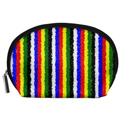 Basic Colors Curly Stripes Accessory Pouch (large)