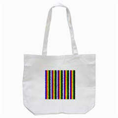 Basic Colors Curly Stripes Tote Bag (white)
