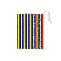 Basic Colors Curly Stripes Drawstring Pouch (Small)