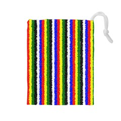 Basic Colors Curly Stripes Drawstring Pouch (Large)