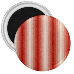 Red Curly Stripes 3  Button Magnet