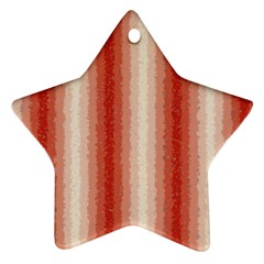 Red Curly Stripes Star Ornament