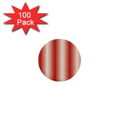 Red Curly Stripes 1  Mini Button (100 Pack)