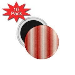 Red Curly Stripes 1 75  Button Magnet (10 Pack)