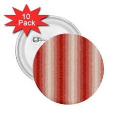 Red Curly Stripes 2.25  Button (10 pack)