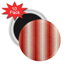 Red Curly Stripes 2 25  Button Magnet (10 Pack)
