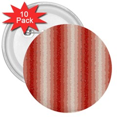 Red Curly Stripes 3  Button (10 pack)