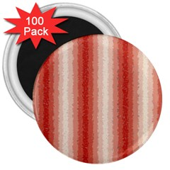 Red Curly Stripes 3  Button Magnet (100 Pack)