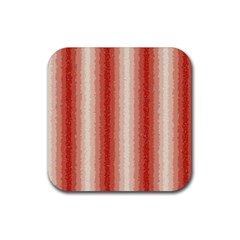 Red Curly Stripes Drink Coaster (square)