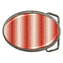 Red Curly Stripes Belt Buckle (oval)
