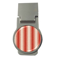 Red Curly Stripes Money Clip (round)