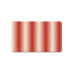 Red Curly Stripes Magnet (name Card)