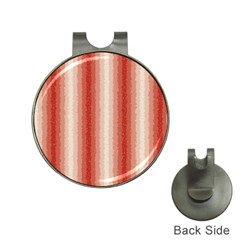 Red Curly Stripes Hat Clip with Golf Ball Marker