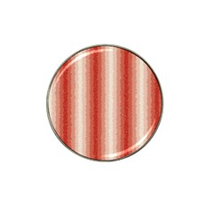 Red Curly Stripes Golf Ball Marker 4 Pack (for Hat Clip)