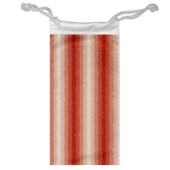 Red Curly Stripes Jewelry Bag