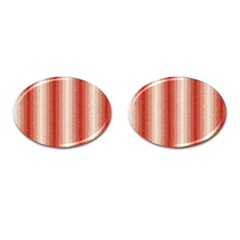 Red Curly Stripes Cufflinks (oval)