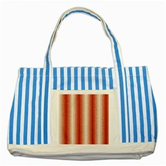 Red Curly Stripes Blue Striped Tote Bag