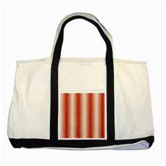 Red Curly Stripes Two Toned Tote Bag