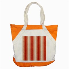Red Curly Stripes Accent Tote Bag