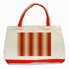 Red Curly Stripes Classic Tote Bag (Red)