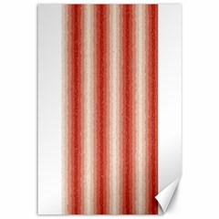 Red Curly Stripes Canvas 12  X 18  (unframed)