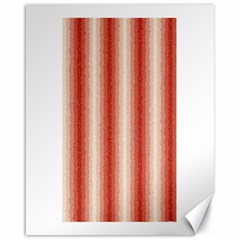 Red Curly Stripes Canvas 16  X 20  (unframed)