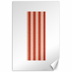 Red Curly Stripes Canvas 20  x 30  (Unframed)