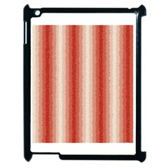 Red Curly Stripes Apple Ipad 2 Case (black)