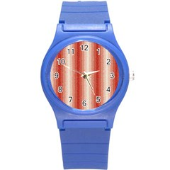 Red Curly Stripes Plastic Sport Watch (small)