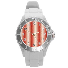 Red Curly Stripes Plastic Sport Watch (Large)