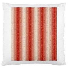 Red Curly Stripes Large Cushion Case (two Sided)