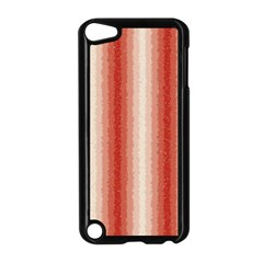 Red Curly Stripes Apple Ipod Touch 5 Case (black)