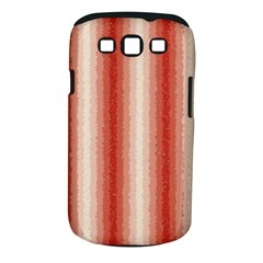 Red Curly Stripes Samsung Galaxy S III Classic Hardshell Case (PC+Silicone)