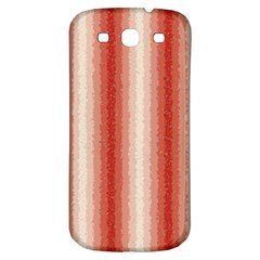 Red Curly Stripes Samsung Galaxy S3 S Iii Classic Hardshell Back Case