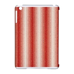 Red Curly Stripes Apple Ipad Mini Hardshell Case (compatible With Smart Cover)