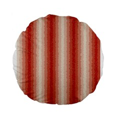 Red Curly Stripes 15  Premium Round Cushion