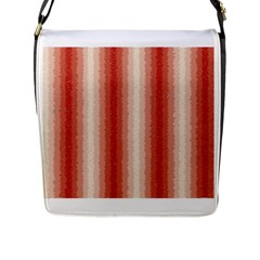 Red Curly Stripes Flap Closure Messenger Bag (Large)