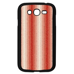 Red Curly Stripes Samsung Galaxy Grand DUOS I9082 Case (Black)
