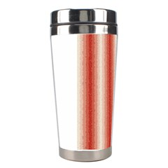Red Curly Stripes Stainless Steel Travel Tumbler