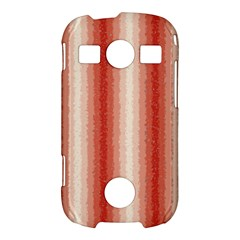 Red Curly Stripes Samsung Galaxy S7710 Xcover 2 Hardshell Case