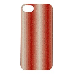 Red Curly Stripes Apple iPhone 5S Hardshell Case