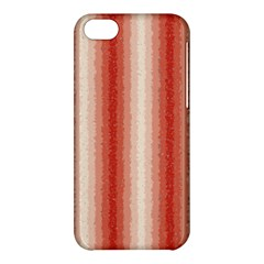 Red Curly Stripes Apple Iphone 5c Hardshell Case