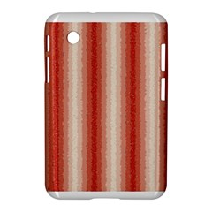 Red Curly Stripes Samsung Galaxy Tab 2 (7 ) P3100 Hardshell Case