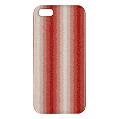 Red Curly Stripes Iphone 5s Premium Hardshell Case