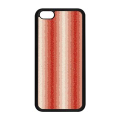 Red Curly Stripes Apple Iphone 5c Seamless Case (black)