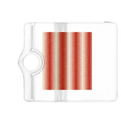 Red Curly Stripes Kindle Fire HDX 8.9  Flip 360 Case