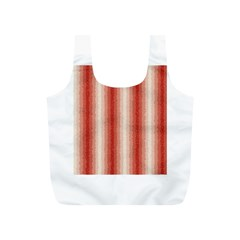 Red Curly Stripes Reusable Bag (s)