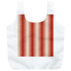 Red Curly Stripes Reusable Bag (XL)